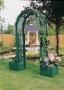 Oblouk na růže s truhlíky na rostliny - zelená